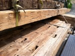 beams on trailer